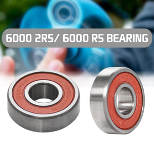 1pc 6000 2RS/6000 RS Ball Bearing 10x26x8mm Red Sealed Rubber Shields Deep Groove Ball Bearing Stainless Steel Sealed Bearing