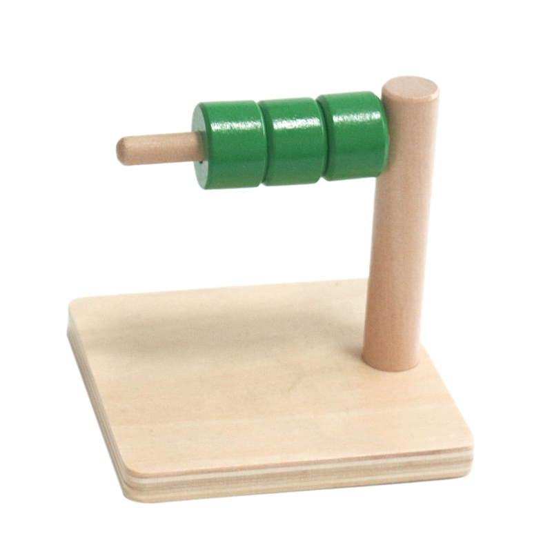 4 Pcs Children Toys Balanced Collar Baby Wooden Cylindrical Ring Preschool Training Toys Intellectual Development Teaching Aids