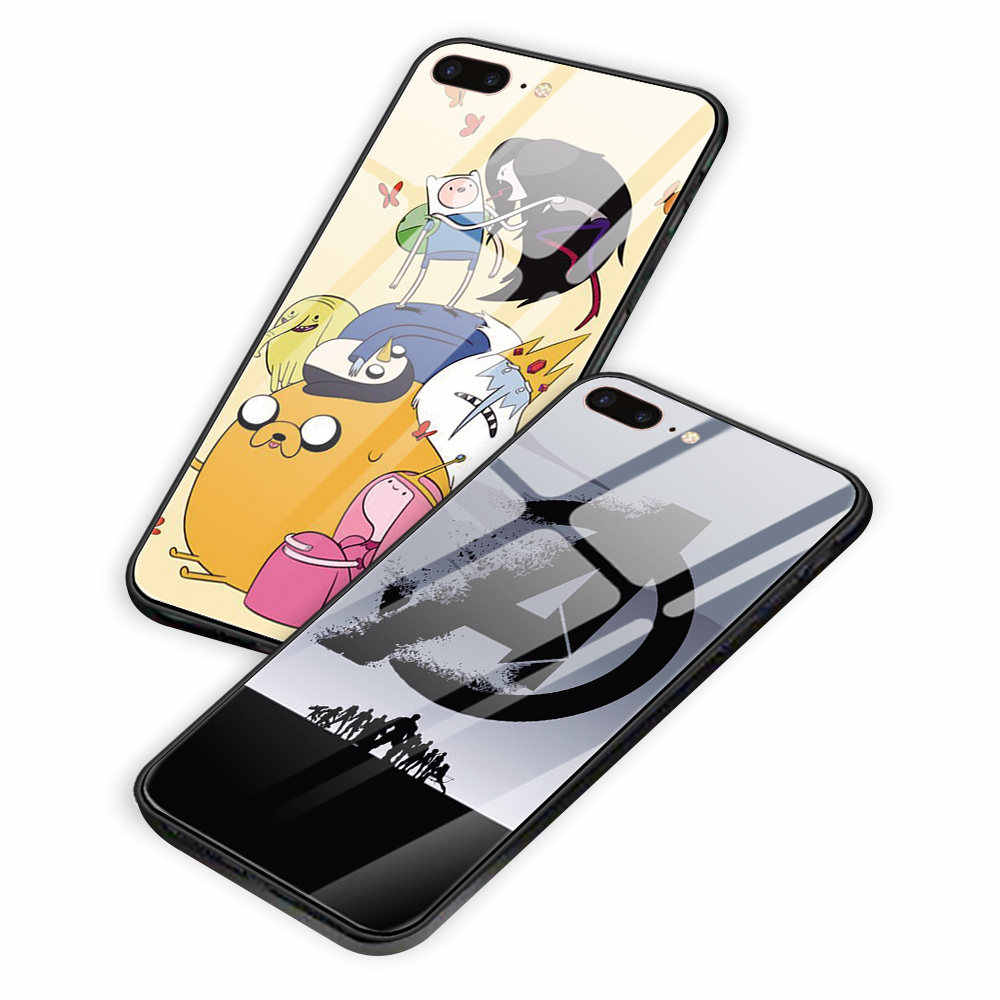 Japan Anime Tempered Glass Back Cover Phone Case Coque Funny Wallpaper For Iphone 5 5s Se 6 6s 7 8 Plus X Xs Xr Xsmax 11 Pro Max Half Wrapped Cases Aliexpress