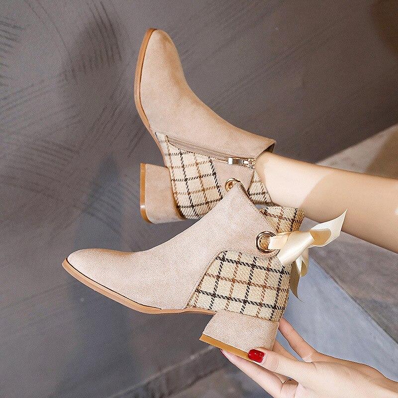 Welp Goede Kwaliteit Enkel laarzen voor vrouwen Ronde neus Lage hak IT-54