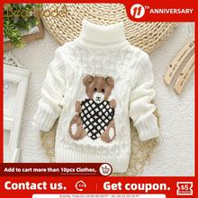 Knitted Sweaters Clothing Girls Bear Winter Fashion Cartoon Children Lovely New Leader