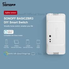 SONOFF BASICZBR3 Zigbee bricolage commutateur intelligent sans fil télécommande Module commutateurs fonctionne avec Alexa SmartThings Hub pour la maison intelligente