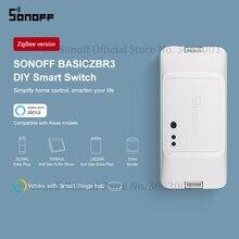 Sonoff interruptor inteligente basgizbr3 zigbee, interruptor de módulo de controle remoto sem fio com comutadores diy, funciona com alexa, smartthings e hub para casa inteligente