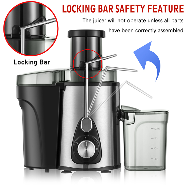 220V Stainless Steel Juicers 2 Speed Electric Juice Extractor Fruit Drinking Machine for Home Sonifer 3