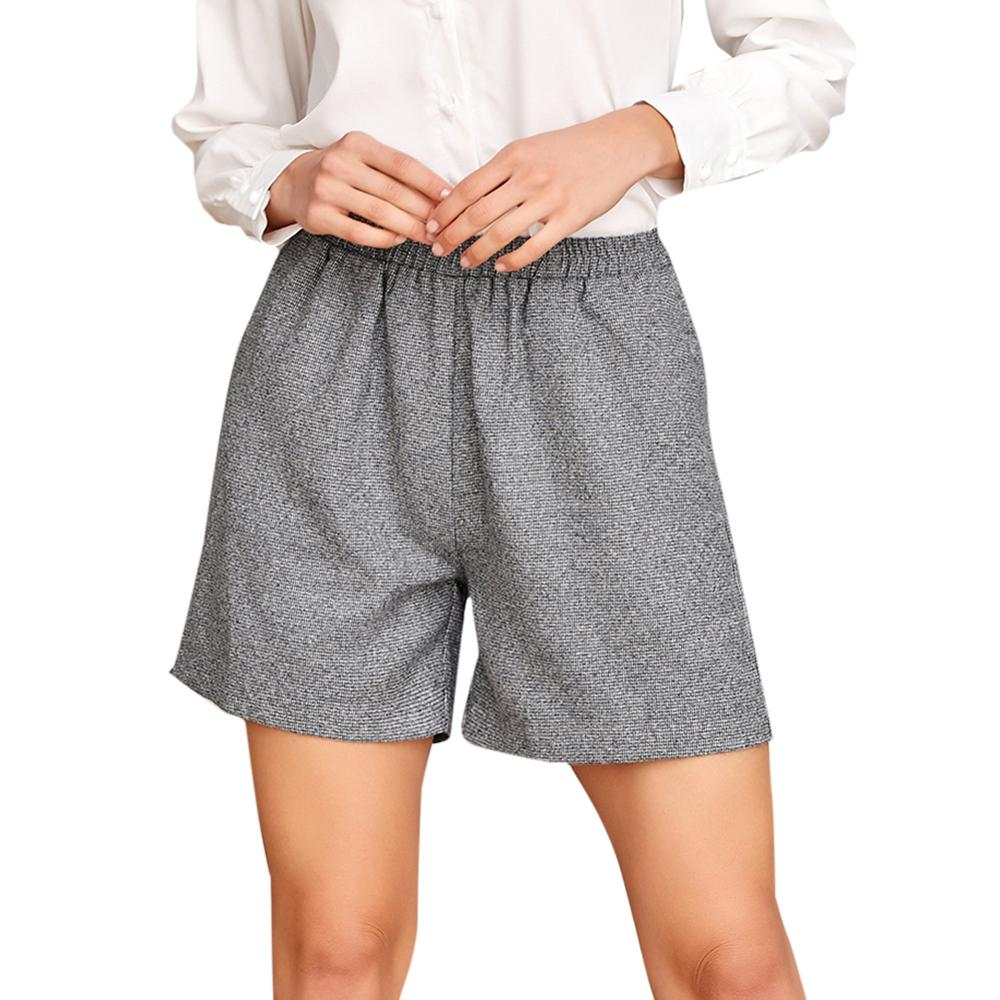 Women Shorts Black Color High Waist Wide  Straight Leg High Quality Spring Loose Shorts Hot Sale Summer 2020 Fashion Lady Women