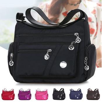 2020 Fashion Women Shoulder Messenger Bag Nylon Oxford Lightweight Waterproof Zipper Package Large Capacity Travel Crossbody Bag