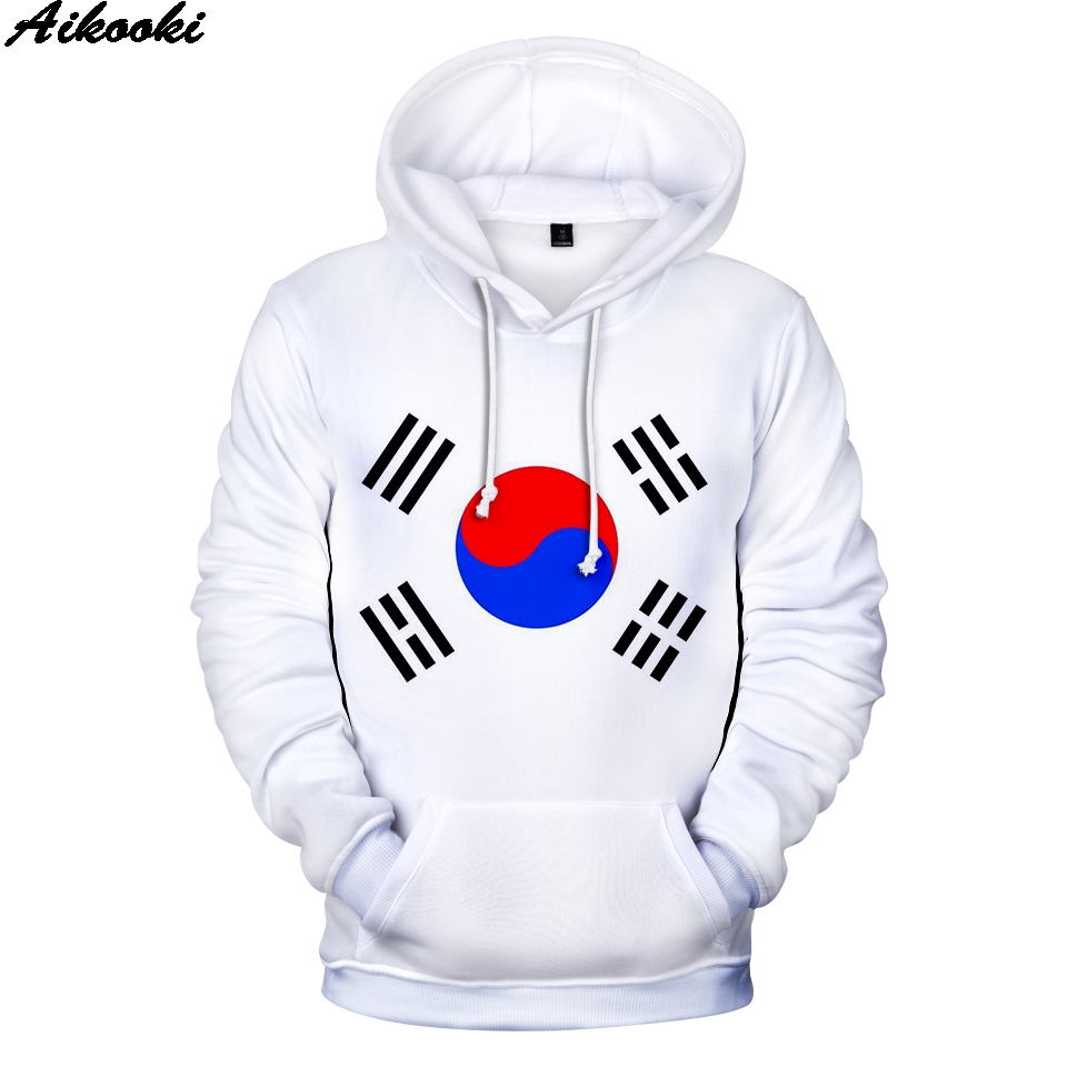 South Korea Flag 3D Hoodies Men Women Casual Hoodie Harajuku Personality Sweatshirt Germany/Brazil National Flag Fashion Hoodies