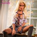 Sobbie sex shop 158cm sexy boobs and ass masturbator pussy vagina realistic morden office lady with skeleton full size real love