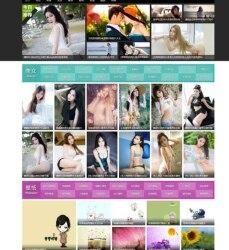 仿《3641图库》帝国CMS内核,美女图片网站整站源码带7G图片+带手机版