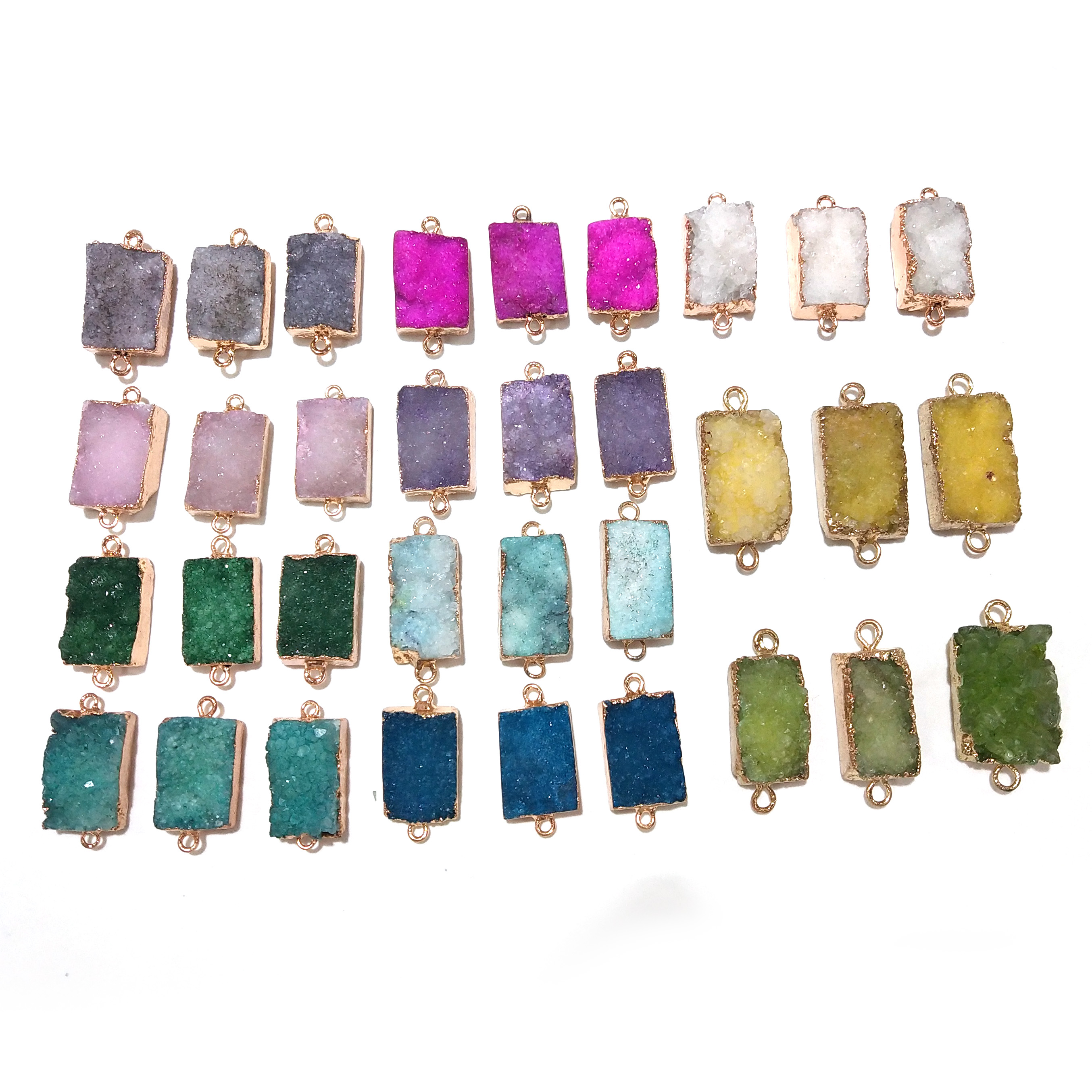 11Colors Natural Stone Charms Pendants Crystal Cluster Pendant For  Jewelry Making Supplies Trendy Jewelry DIY Necklace Bracelet