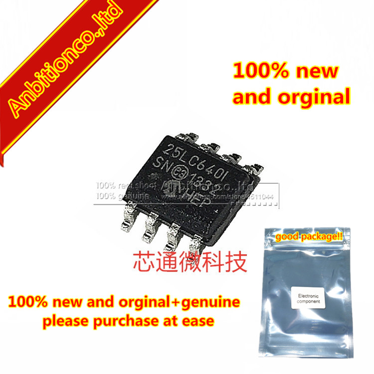 10pcs  100% New And Orginal 25LC640-I/SN 25LC640 SOP-8 In Stock