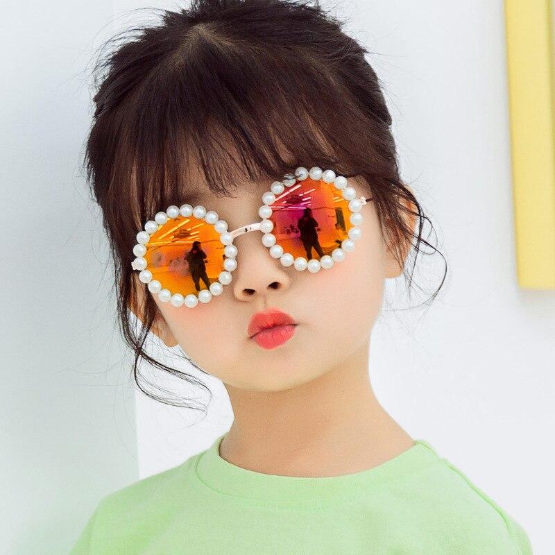 Image 3 - New retro round glasses box pearls B138 baby boomers joker sunglasses wholesale childrens sunglassesWomens Sunglasses   -