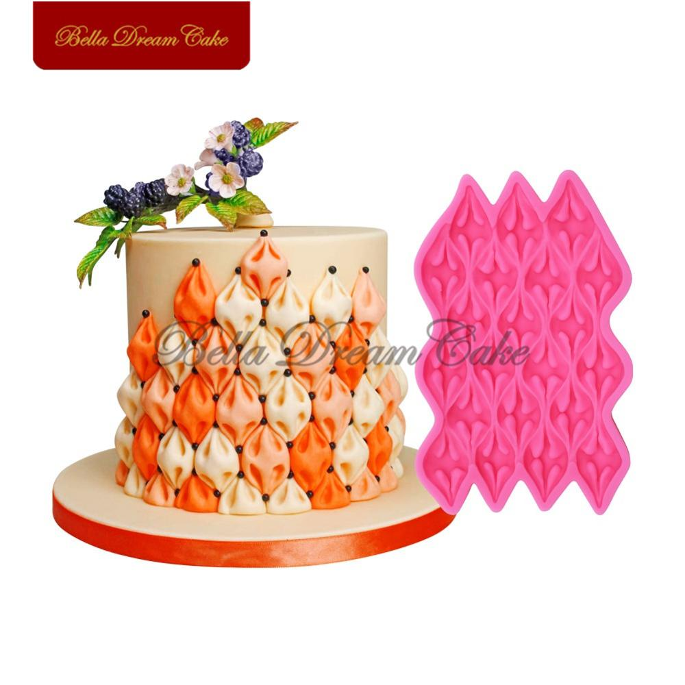 Large Size Easy Fabric Puff Silicone Mold Creative <font><b>Fondant</b></font> Chocolate <font><b>Cake</b></font> Mould <font><b>Cake</b></font> <font><b>Decorating</b></font> <font><b>Tools</b></font> Kitchen Baking <font><b>Accessories</b></font> image