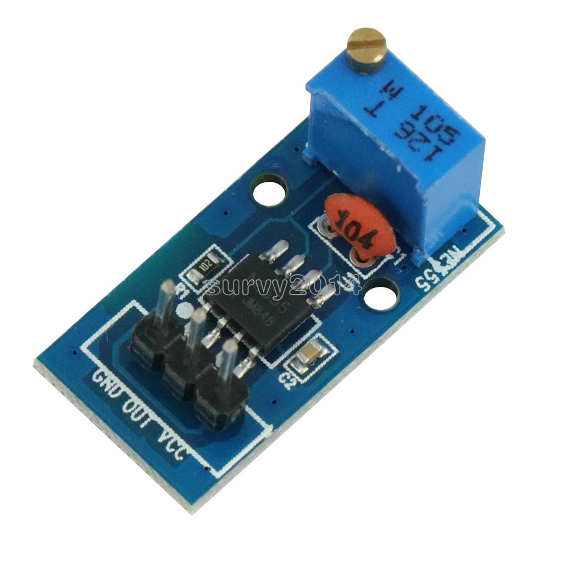 NE555 Adjustable Resistnce Frequency Pulse Generator Module For Arduino Smart Car 5V-12V Single Channel Output Module 29*12mm