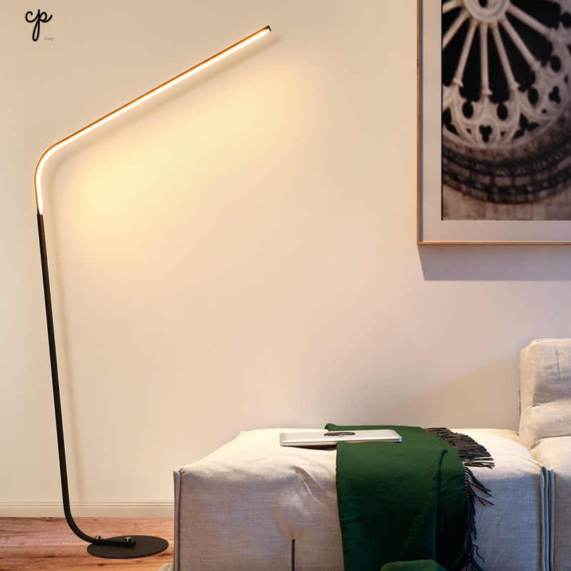 Скандинавский светодиодный простой торшер Вертикальный Торшер Творческое Оформление рабочего стола свет современный Ins теплый спальня напольный светильник