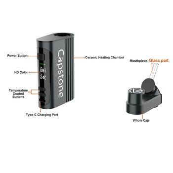 Svns Capstone – cigarette électronique avec écran 5000 pouces, 0.96 mAh, système de chauffage à Convection pour herbe sèche, 3D