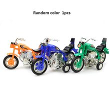 Children Simulation Motorcycle Plastic Cool Gift Toy Simulated Rubber Tire Playful