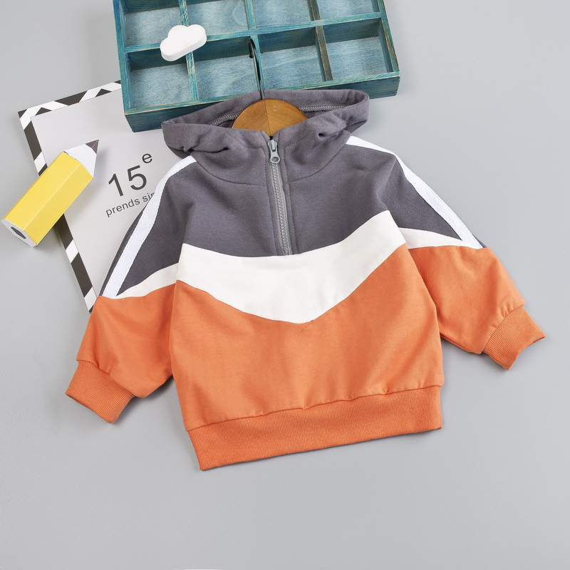 New Style Promotion children Patchwork hoodies autumn clothes boys girls active  sweatshirts zipper cap shirt Hoodies & Sweatshirts  - AliExpress