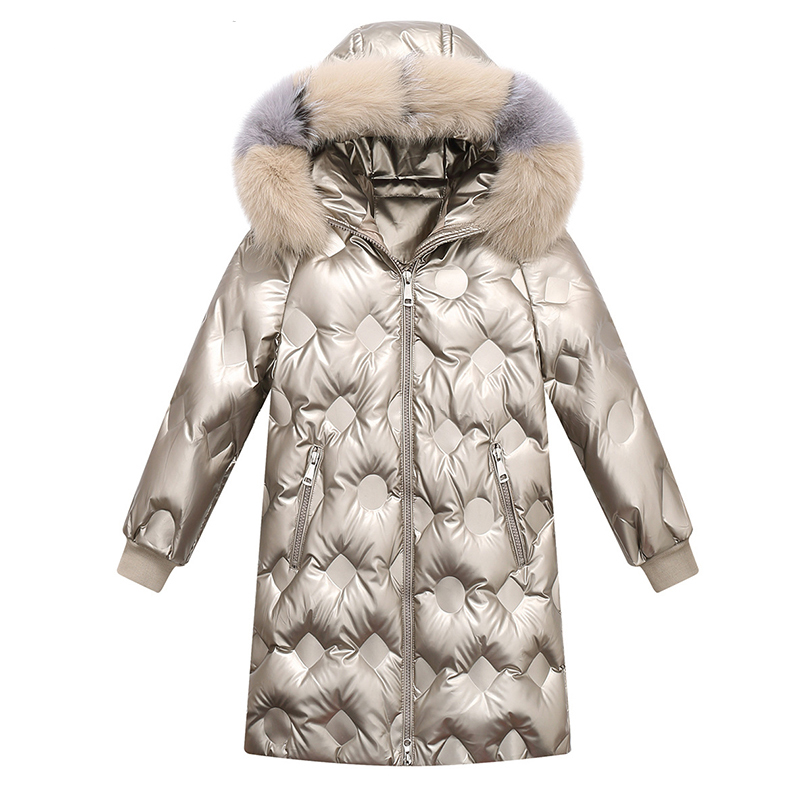 2020 г. Новое Модное детское пальто для девочек, зимние утепленные детские пуховые парки зимняя одежда для девочек верхняя одежда для маленьк...