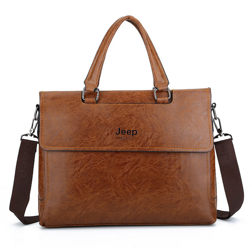 Strong Briefcase For Men Artificial Leather Briefcase Fashion Messenger Bag For Men