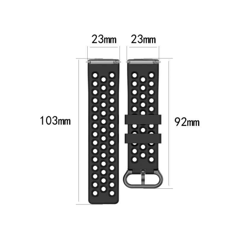 Correa de silicona para Fitbit Versa 2, Correa deportiva para reloj de pulsera colorida, correa de repuesto, 10 colores TSFH
