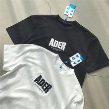 T-shirt pour homme et femme, bonne qualité, 1:1, avec Logo brodé au dos, bleu, point Z, couture