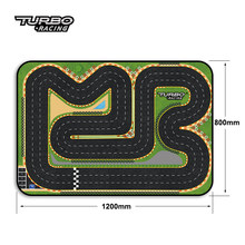 120 x 80 cm Mini Car Track Fit for Different Scale RC Car Turbo Racing 1/76 Mini RC Car Race Track