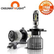 CNSUNNYLIGHT samochodów LED H4 kompaktowy reflektor H7 H11 9005 HB3 9006 HB4 H1 Auto żarówki 5500K Turbo etui z klapką Led 8500lm H8 880 H27 lampa przeciwmgielna