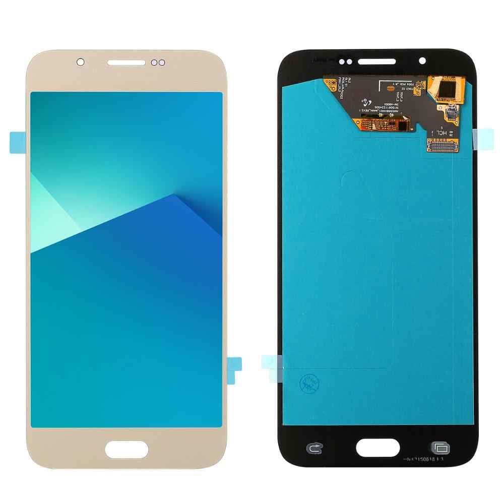"""100% اختبار العامل 5.7 """"سوبر AMOLED شاشات lcd لسامسونج غالاكسي A8 A800 A8000 SM-A800F شاشة الكريستال السائل + مجموعة المحولات الرقمية لشاشة تعمل بلمس"""