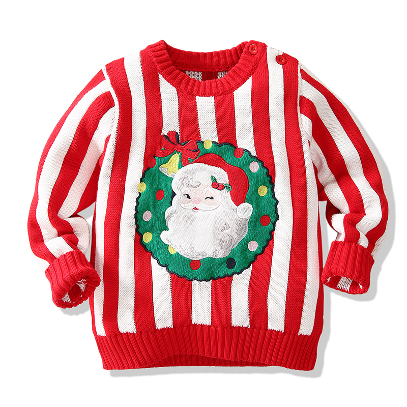 Christmas Baby Boys Girls Sweaters Winter 19 Toddler Baby Clothes With Deer Kids Christmas Sweater Embroidery Pull Fille Tops 17