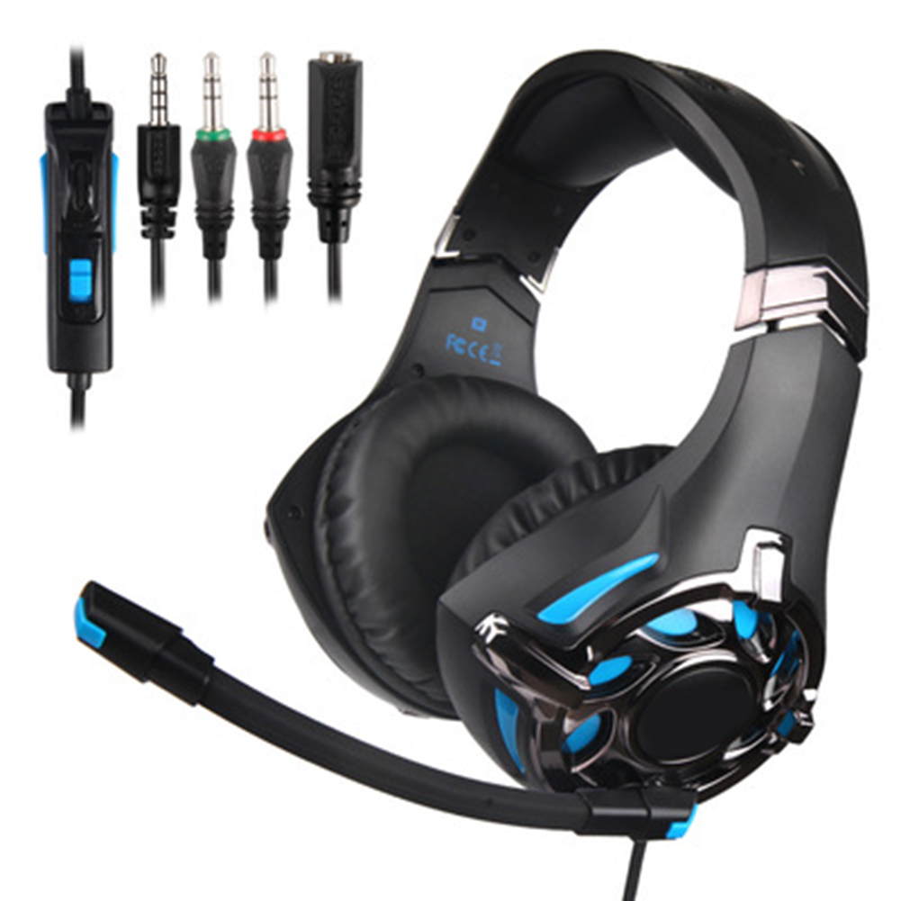 SA-822 Gaming Headset High Sound Quality Headphones 3.5mm with Microphone for PC Laptop Computer Gaming DQ-Drop image