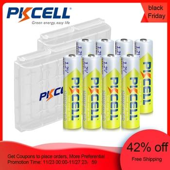 8Pcs PKCELL AAA Battery 1.2V Ni-MH AAA Rechargeable Battery 1000MAH Batteries 3A Bateria Baterias with 2PC AAA/AA Battery Holder 12pieces pkcell aa battery ni mh rechargeable batteries 2a bateria baterias ni mh 2000mah 1 2v aa rechargeable battery