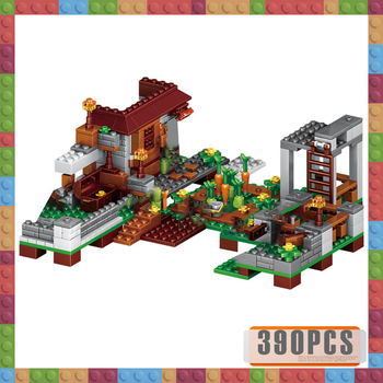 2019 NEW Sets Building Blocks LELEing Village City Tree House My World Blocks Waterfall Warhorse Bricks Toys for Children 342pcs my world series tree house in island model building blocks compatible legoed minecrafted village brick toys for children