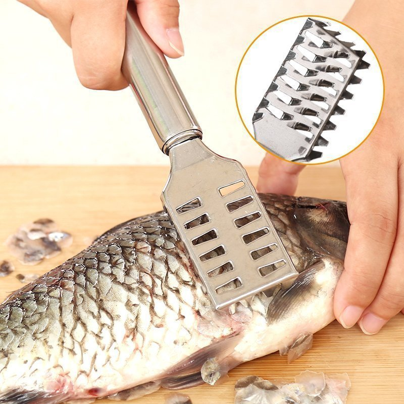 Fish Scale Brush Scraper Fish Cleaning Tool Scraping Scales Graters Fast Remove Peeler Scraper Tackle Fishing Kitchen Stuff image