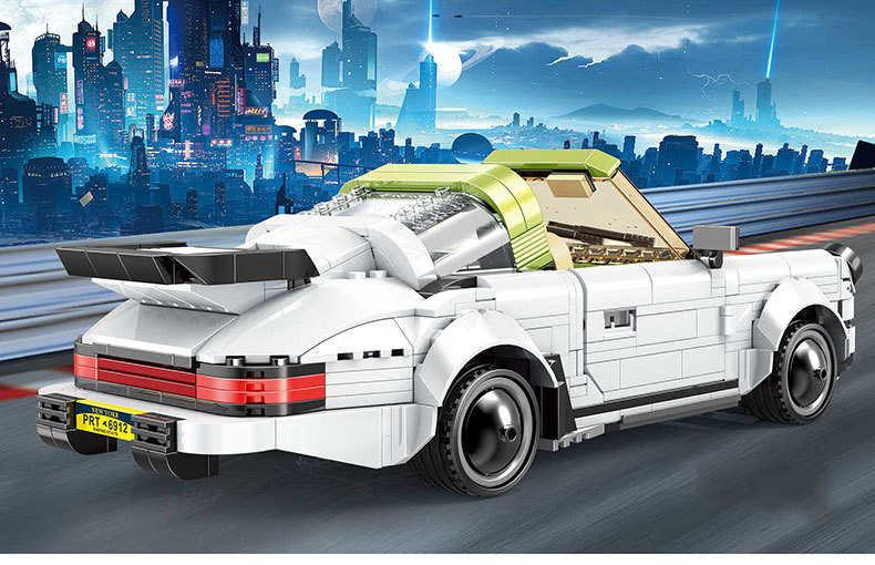 MOC Kompatibel Legoed Teknik Mobil Targa Mobil Sport Blok Bangunan Set Batu Bata Anak-anak Pendidikan Mainan Natal 882 Buah