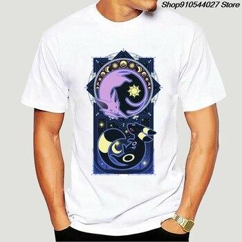 100%  O-neck Custom Printed Tshirt T shirt Art of Evolution - Umbreon And Espeon Wo T-Shirt-4394D