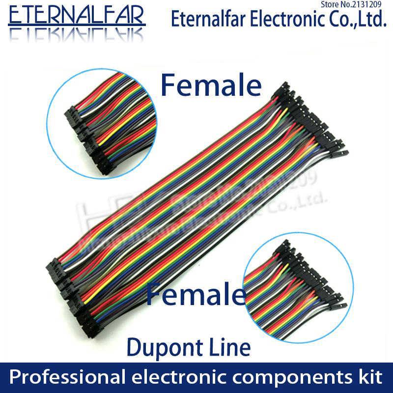10CM 20CM 30CM 40PIN Rainbow kabel Dupont linia mężczyzna kobieta głowy zworka przewód łączący linia kabel Breadboard PCB DIY KIT