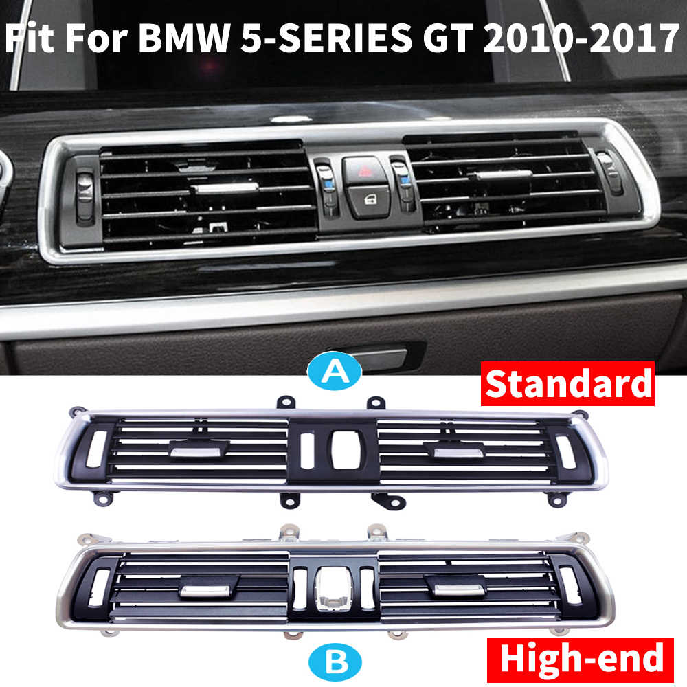 ABS Chrome Car Central Console Air Conditioning Outlet Vent Cover Frame Trim 1pc for BMW 5 Series F10 2011-2017