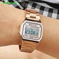 Женские спортивные часы SANDA  роскошные золотистые светодиодные электронные цифровые водонепроницаемые часы с розовым золотом  Reloj Mujer  2019