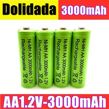 AA battery 3000 mAh Rechargeable battery NI-MH 1.2 V AA battery for Clocks, mice, computers, toys so on image