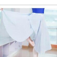 Adult Girl Ballet Skirt Chiffon Tutu Dance Skirts Women Barre Practice Dress Wrap 233-068