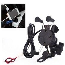 Мобильный телефон Besegad для мотоцикла, держатель с поддержкой USB зарядного устройства, вращение на 360 градусов, чехол для мотоцикла 3,5 6 дюймов, GPS bracker