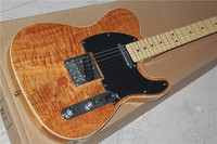 Chinese guitar factory direct custom shop New Natural Maple Veneer top tl electric guitar free shipping 01