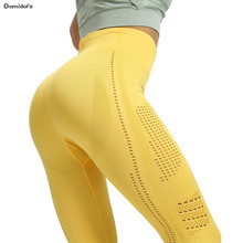 2019 seamless yoga pants hollow out shark lady outdoor polyester absorbent sweat sport leggings high stretch tights with raised(China)