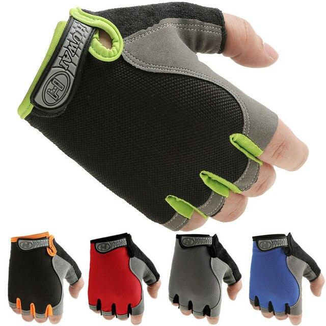 Luvas de ciclismo anti-deslizamento das mulheres dos homens meias luvas de dedo respirável luvas esportivas de verão gel mtb bicicleta luva 1