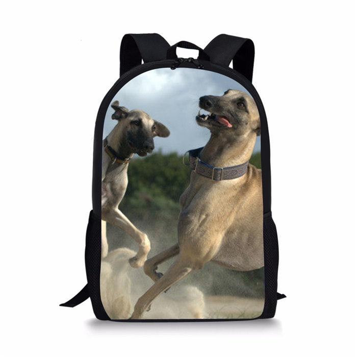 043c7dd995fa US $7.32 39% OFF|3D Greyhound Dog Animal Pattern Prints School Bags for  Girls Boys Children Backpack Kids Book Bag Mochila Escolar Drop Shipping-in  ...