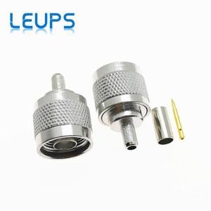 Image 1 - 50 Uds N hombre macho de crimpado de RG58 RG142 RG223 LMR195 SYV50 3 Cable RF conector