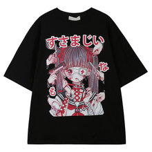 Summer Gothic clothing Sexy Female Loose Women T-shirt Punk Dark Grunge Streetwear Ladies Top Gothic Tshirts Harajuku Clothes