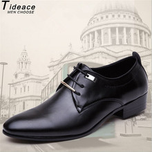 2020 New Quality Leather Men's Shoes Soft Man Dress Shoes Extra Size 45 46 Point Toe Man Split Leather Shoes  2 Color