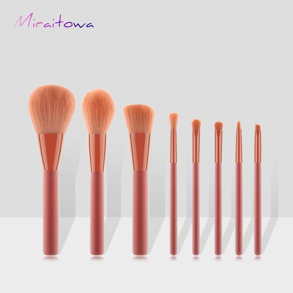 8 pinceaux cosmétiques haut de gamme à l'huile rose recommandés par les esthéticiens professionnels pour les outils cosmétiques GUJHUI